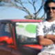 "Sharafat ""Havie"" Kader (23) in a picture next to the car he was hijacked from. Picture Henk Kruger"