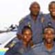 Top row, from left: Warrant Officer Sipho Shandu and Constable Sihle Gumede. Bottom row from left: Constable Samke Ngewnya, Constable Sbonelo Ntombela and police dog, Brady. Picture: Gcina Ndwalane